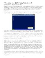 Tìm hiểu chế độ XP mode của Win 7