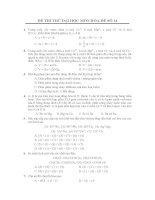 ĐỀ THI THỬ ĐẠI HỌC MÔN HÓA-ĐỀ SỐ 14 và đáp án