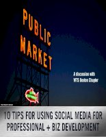 10 Tips for Using Social Media for Professional and Business Development
