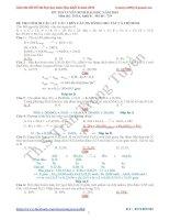 Giải chi tiết đề thi đh môn hóa khối b năm 2014