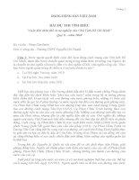 """BÀI DỰ THI TÌM HIỂU  """"Cuộc đời, thân thế và sự nghiệp của Chủ Tịch Hồ Chí Minh""""  Quý II - năm 2010"""