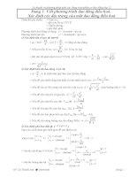 Các dạng toán phần dao động cơ học pps