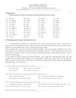 Đề thi học sinh giỏi anh văn lớp 8 pdf