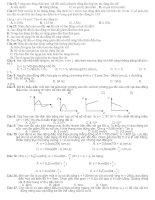 một số đề trong các đề thi đại học thuộc chương I và II vật lí 12