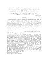 ĐÁNH GIÁ HIỆU QUẢ KỸ THUẬT SỬ DỤNG PHƯƠNG PHÁP PHÂN TÍCH VỎ BỌC DỮ LIỆU TRONG SẢN XUẤT VẢI THIỀU Ở TỈNH BẮC GIANG