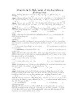 Chuyên đề 7:  Đại cương về hóa học hữu cơ, hidrocacbon.