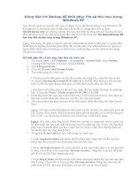 Dùng tiện ích Backup để khôi phục file và thư mục trong Windows XP pdf