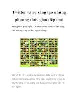Twitter và sự sáng tạo những phương thức giao tiếp mới docx