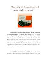 Thận trọng khi dùng co-trimoxazol kháng khuẩn đường ruột pps
