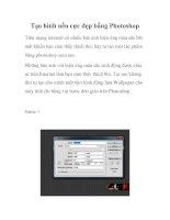 Tạo hình nền cực đẹp bằng Photoshop pdf