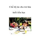 Chế độ ăn cho trẻ lứa tuổi tiểu học docx