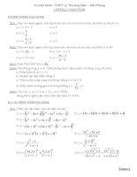Hệ thống bài tập toán - THPT Lý Thường Kiệt - Hải Phòng pptx