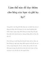 Làm thế nào để đọc thêm cho blog của bạn và giữ họ lại? potx