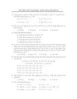 ĐỀ THI THỬ ĐẠI HỌC MÔN HÓA-ĐỀ SỐ 13 và đáp án