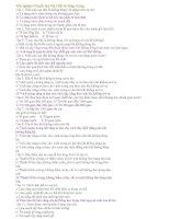 Trắc nghiệm Sinh 11 - Chuyển hóa Vật Chất và Năng Lượng ppt