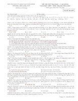 Thi thu DH THPT Phụ Dực - Thái Bình Lần 1(có đáp án)