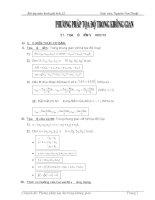 Bài tập PP Tọa độ KG đầy đủ