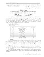 báo cáo sơ kết học kỳ I năm học 2009-1010