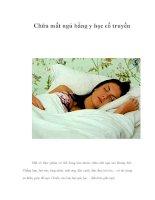 Chữa mất ngủ bằng y học cổ truyền pot