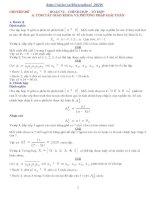 Chuyên đề Tổ hợp xác suất