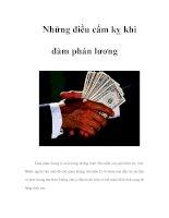 Những điều cấm kỵ khi đàm phán lương ppsx