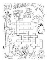 ZOO crossword - For your kids!