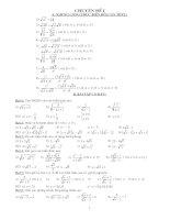 Các dạng toán ôn thi vào 10 - 2010 theo định hướng của sở GD Thanh Hóa
