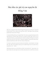 Bảo tồn các giá trị cao nguyên đá Đồng Văn ppsx