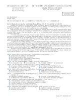 ĐỀ CHÍNH THỨC MÔN ANH KHỐI D NĂM 2008 - MÃ ĐỀ 105 pptx