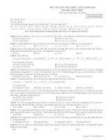 Đề Thi Thử kèm Đáp án-12-6-2010