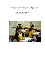 Giải pháp với việc học tập của trẻ em tiểu học pdf