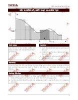 Toán cao cấp 1-Bài 1: Hàm số, giới hạn và liên tục potx