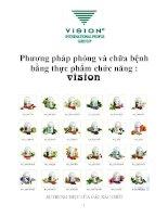 Phương pháp phòng và chữa bệnh bằng thực phẩm chức năng : vision ppsx