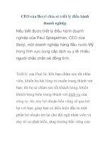 CEO của Beryl chia sẻ triết lý điều hành doanh nghiệp ppt