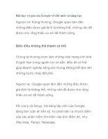 Bài học vô giá của Google về đổi mới và sáng tạo potx