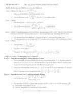 Đề số 11 - Đề tổng hợp luyện thi đại học môn toán chương trình không phân ban docx
