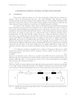 POWER ELECTRONIC CONTROL OF INDUCTION MOTORS ppt
