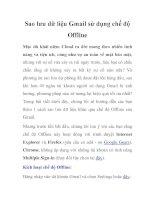 Sao lưu dữ liệu Gmail sử dụng chế độ Offline pps