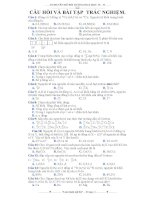 Câu hỏi và bài tập trắc nghiệm môn hóa học lớp 10 docx