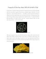 9 nguyên tố hóa học được biết tới từ thời cổ đại docx