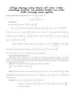 Ứng dụng của đại số vào việc chứng minh và phát hiện bất đẳng thức trong tam giác pptx