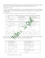 Phương pháp giải giống nhau đối với các bài tập về DĐ cơ và DĐ điện
