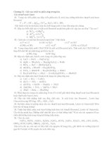 tài liệu Bài tập môn hóa vô cơ chương 3 và chương 4