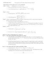Đề số 3 - Đề tổng hợp luyện thi đại học môn toán chương trình không phân ban potx