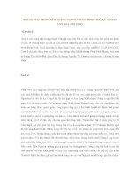 KHU DI TÍCH TRUNG TÂM HOÀNG THÀNH THĂNG LONG – HÀ NỘI (DI SẢN VĂN HÓA THẾ GIỚI) doc