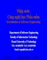 Giáo trình Công nghệ phần mềm - Yêu cầu người dùng potx