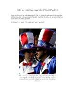 12 kỷ lục có thể bạn chưa biết về World Cup 2010