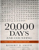 20,000 days and counting the crash course for mastering your life right now