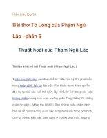 Kiến thức lớp 10 Bài thơ Tỏ Lòng của Phạm Ngũ Lão pdf