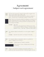Agreement Subject-verb agreement doc